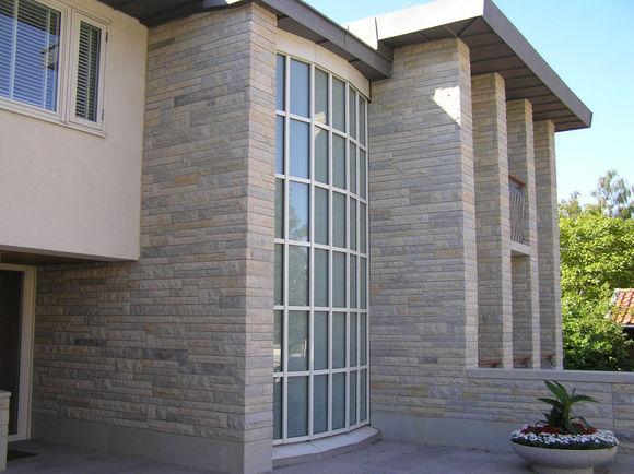 Пример отделки фасада ракушечником (фото)