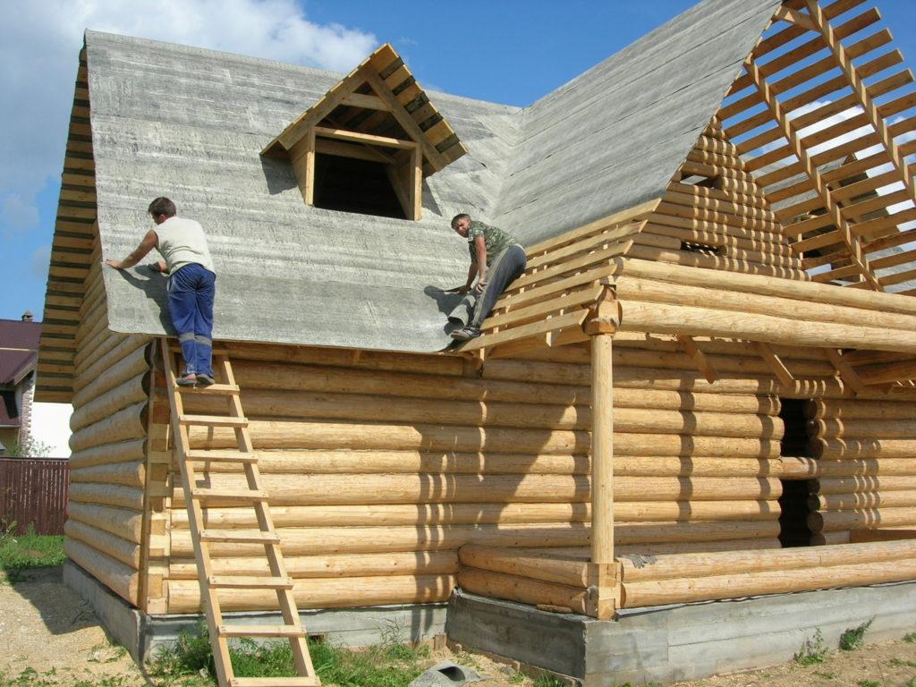 Строительство деревянного частного дома своими руками 100